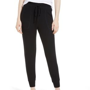 Gibson Black cosy joggers Sweatpants with pockets